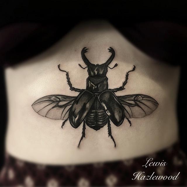 Rhino Beetle Tattoo